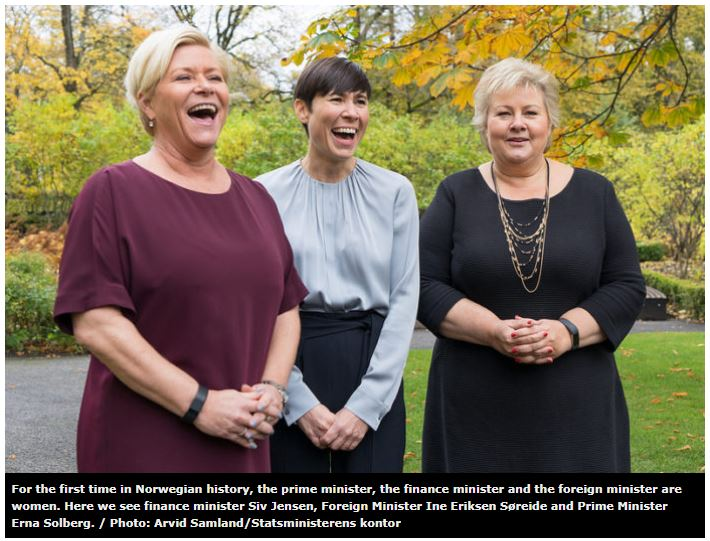 women ministers in norway.JPG